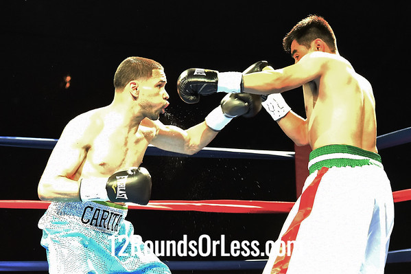 """Bout #1:  Antonio """"Carita"""" Nieves, Cleveland, OH  vs  Adalberto Tapia, Indianapolis, IN  Jr. Featherweights (122 Lb Division)"""