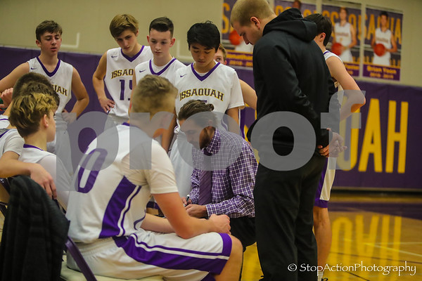 2018-12-21 Issaquah Boys Basketball vs Newport