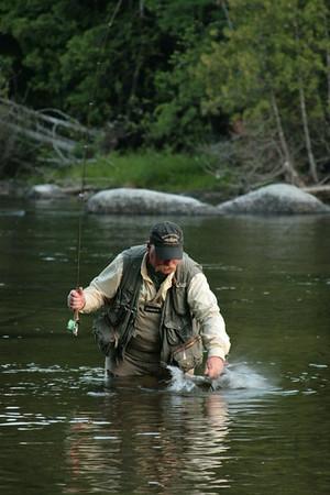 Flyfishing for Salmon on Grand Lake Stream, Fishing on GLS, Maine<br /> ©Nature'sArt