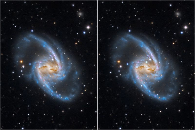 NGC 1365: Majestic Spiral with Supernova