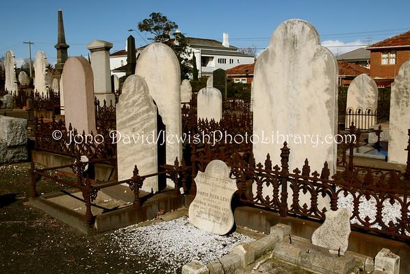 AUSTRALIA, Victoria, Melbourne. Jewish sector, St. Kilda Cemetery. (8.2010)