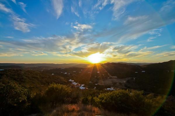 Concan Sunset - Thu, Nov 24, 2011