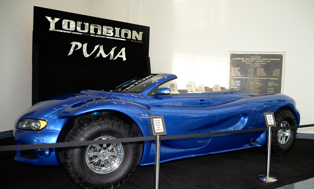 . Nov 20,2013 Los Angeles CA. USA. The Youabian Puma with it\'s 44 inch tire on display during the 2013 Los Angeles Auto Show. Photo by Gene Blevins/LA Daily News