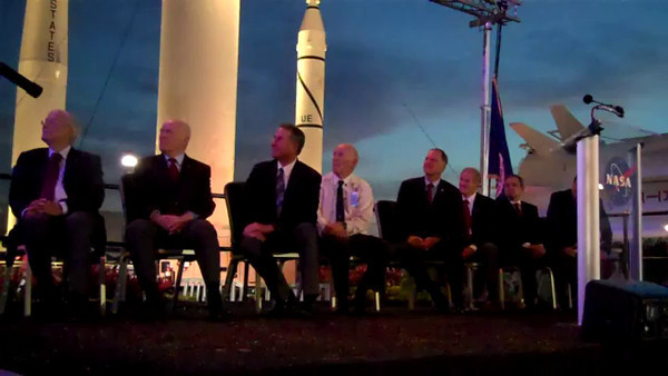 John Glenn at KSC Video