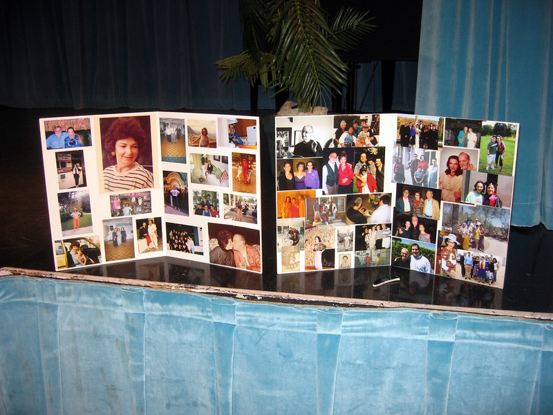 Photo montages of Bernice with family and friends