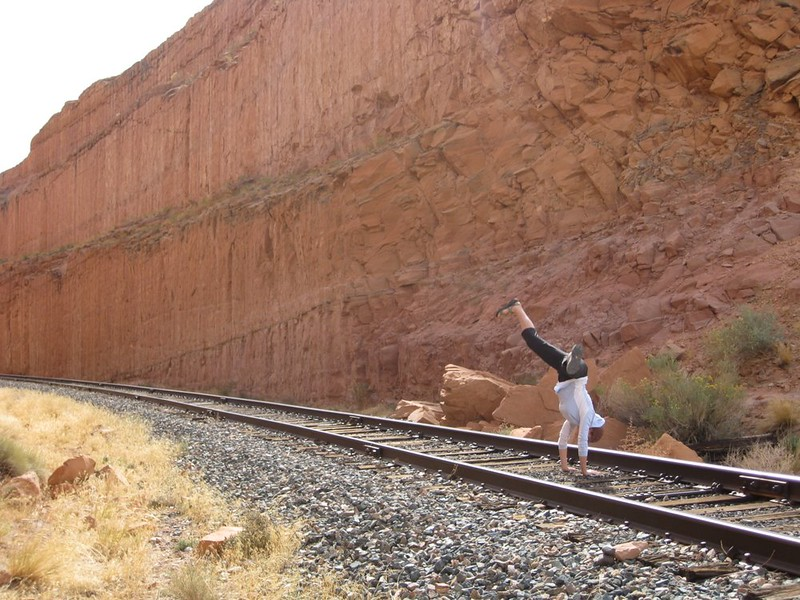 Stacee Calderon - Train Track, Moab, UT - 10/2008
