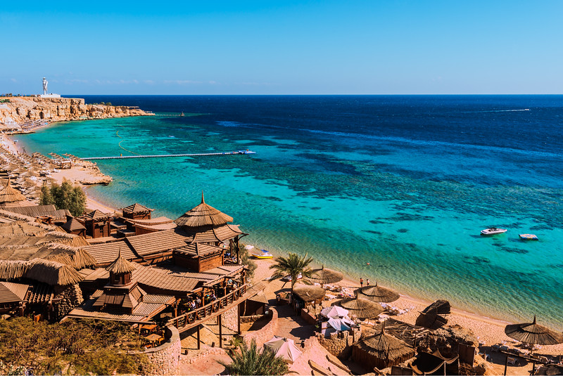 Sharm el Sheik coastline in Egypt