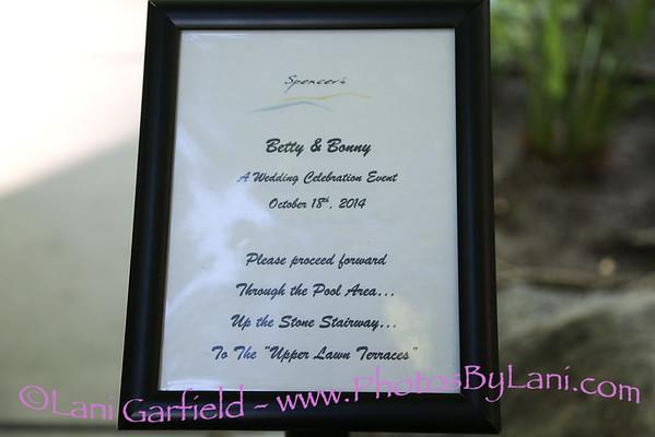 Bonny & Betty's Wedding 10/18/14