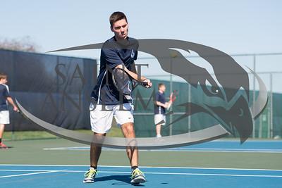 Men's Tennis vs. St. Michael's (4/14/16) Courtesy Jim Stankiewicz