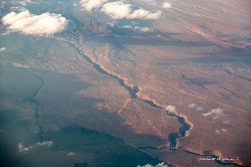 On the return flight to Las Vegas - somewhere in Nevada