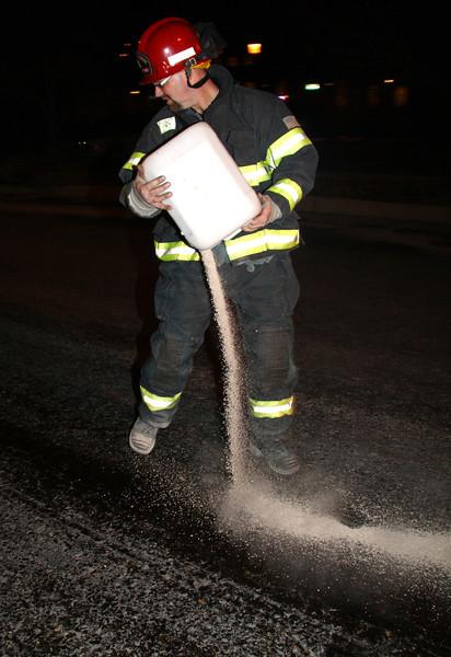 Sticky Liquid Cleanup, North Railroad St, Tamaqua (1-25-2012)