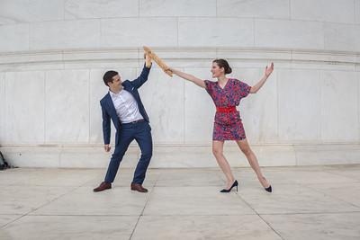 03 Couple @ Jefferson Memorial