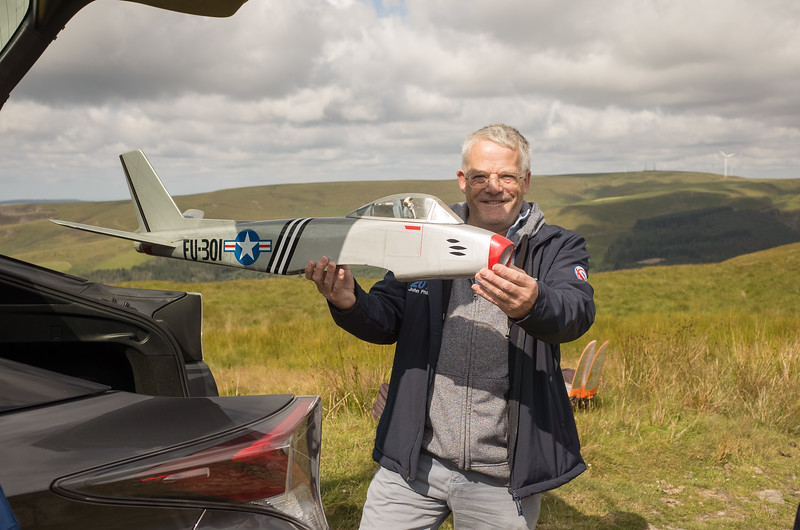John Phillips with his F86 Sabre PSS. Not quite ready to fly!