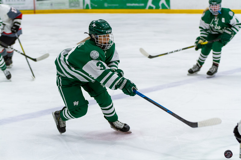 Holy Family's MacKenzie Moss '22 (3) vs. Eden Prairie at Braemar Arena - Collin Nawrocki/The Phoenix