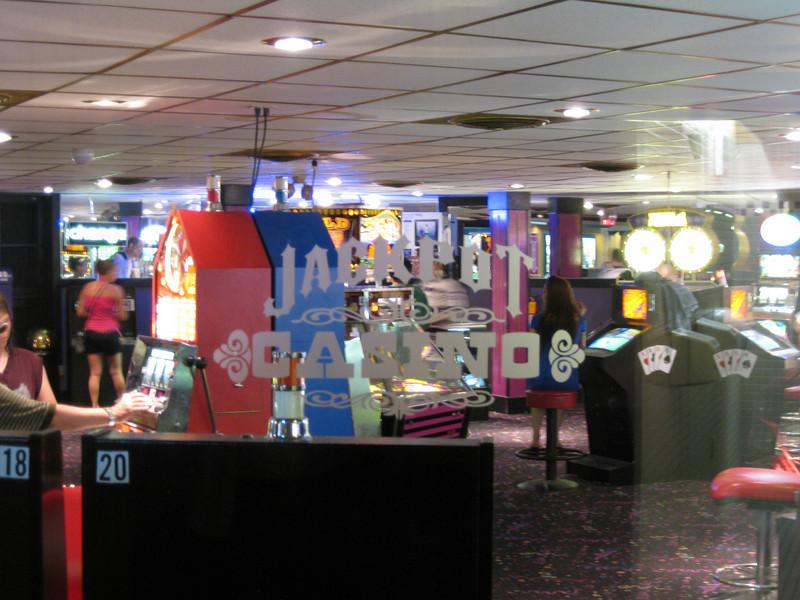 Jackpot Casino, through a window.