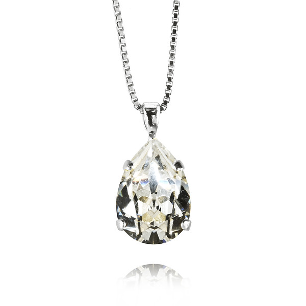 Mini Drop Necklace / Crystal Rhodium