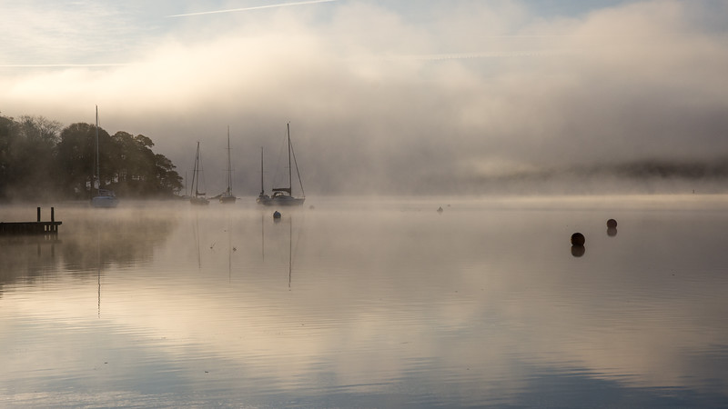 Misty morning on #Windermere lake