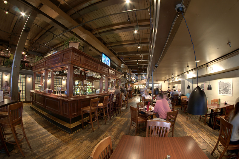 People dine inside the spacious, beautiful Downtown Grill & Brewery in Knoxville, TN on Saturday, June 7, 2014. Copyright 2014 Jason Barnette