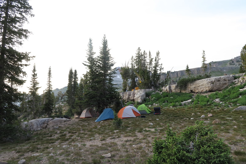 Campsite at Sunset Lake - Day Two and Day Three