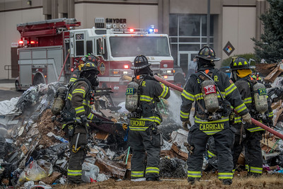 Troy Circle Garbage Truck Fire