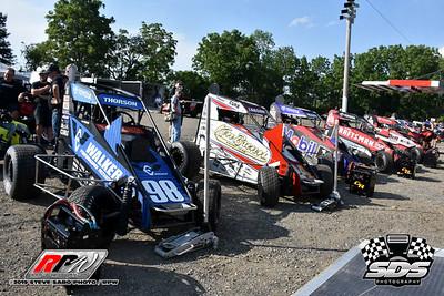 Grandview Speedway - USAC Midgets - 7/30/19 - Steve Sabo
