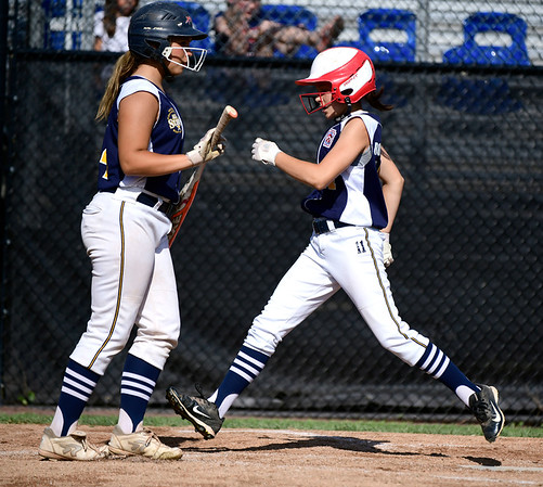7/24/2019 Mike Orazzi   Staff Connecticut's Angelina Robinson (11) scores during Wednesday's Little League softball game with New Jersey at Breen Field in Bristol.