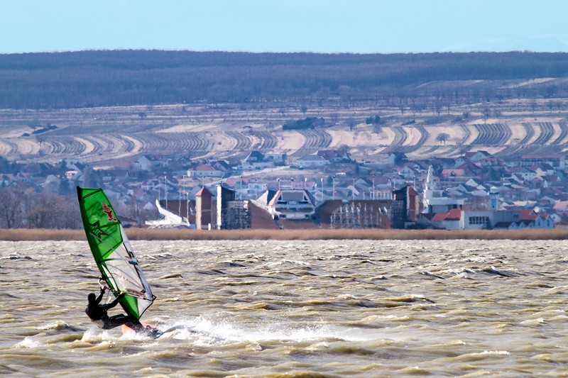 Windy wind surfing