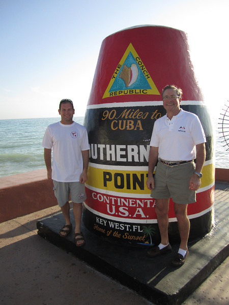 Jon Deutsch and Lud Kimbrough at the Southern Most Point