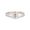 1.17ct Asscher Cut Diamond Tacori Solitaire, GIA G, VS2 0
