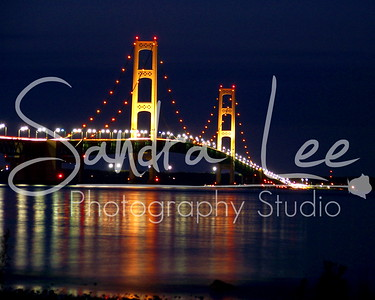 Mackinaw City Mackinac Bridge by Sandra Lee Photography, Petoskey, Mi