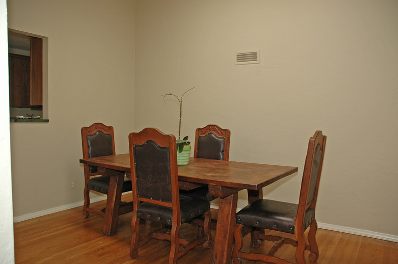Formal dining room with the kitchen just out of the picture to the left.