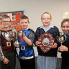 Kingsmill PS end of year presentations,Key Stage 1  Awards, John Cosgrove, Cameron Marks,Hannah Herron,Naomi Burke.