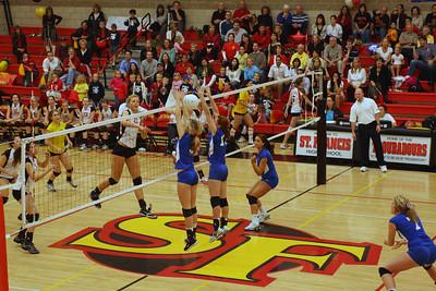 2009 FHS Varsity VB at St. Francis 11-02-09