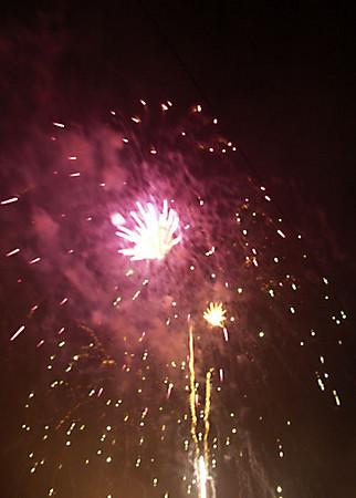 Fireworks Hillsborough Balloon Festival 2007