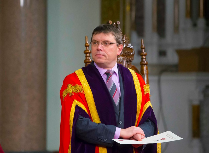 Waterford Institute Of Technology Conferring. Pictured is Dr. Ruaidhrí Neavyn, President, WIT. Picture: Patrick Browne