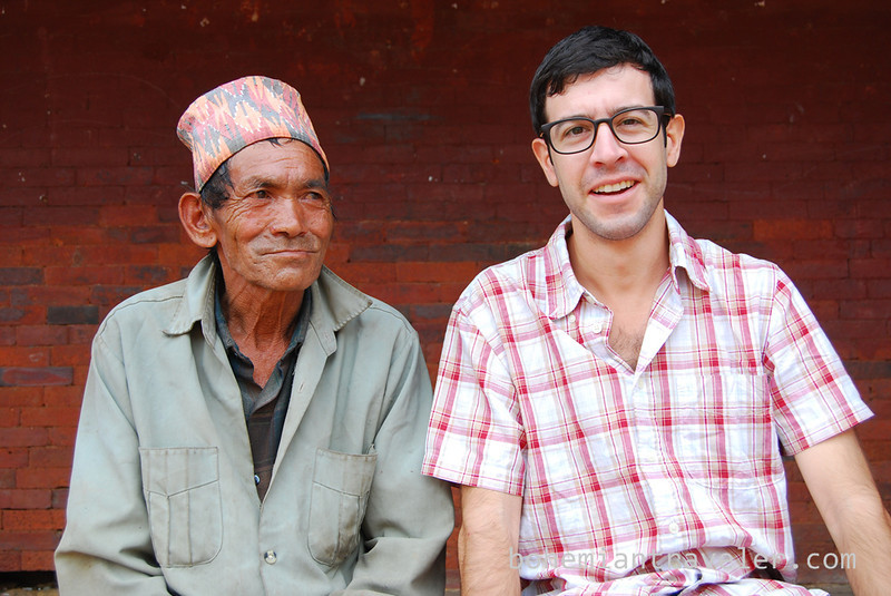 Stephen and old man in Bhaktapur.jpg