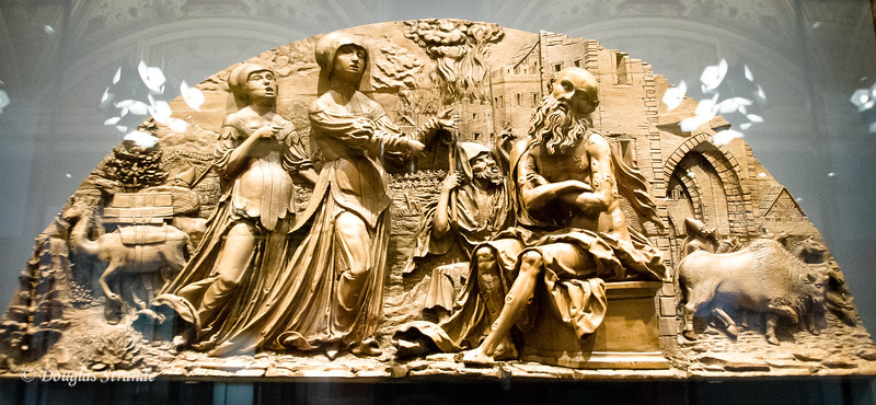 Mockery of Job by I.P. Meister -- Wood carving, Art History Museum, Vienna