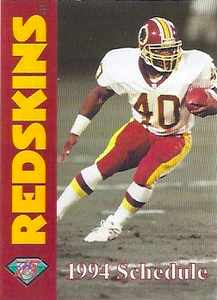 1994 Redskins Mobil Schedules