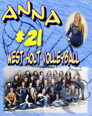 HS Volleyball Collages