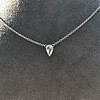 0.48ct 18kt White Gold Rose Cut Bezel Pendant 16