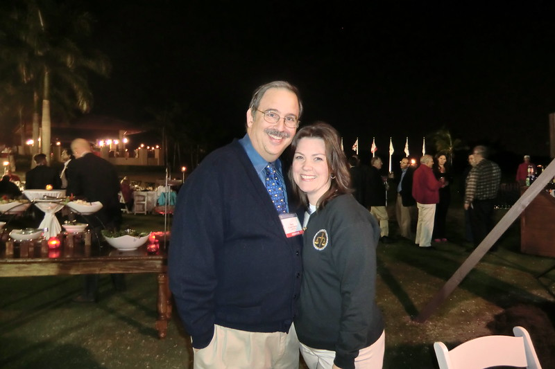 Past President Marty Davidoff and Executive Director Nicole Ratner at the Welcome Reception and Night Golf Event