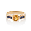 1.48ctw Yellow and Blue Sapphire Ring 0