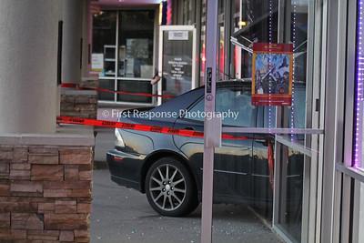 McKinney Texas. Car crashes into Insurance Office Hwy. 75 near White St. 3/31/16
