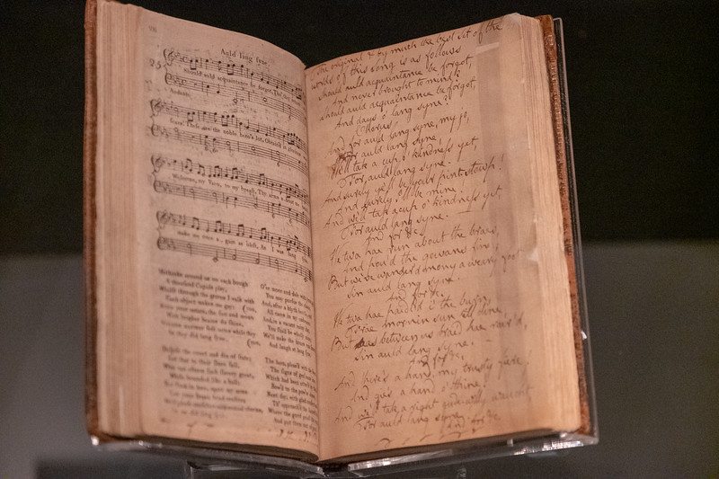 The original book in which Robert Burns wrote his version of Auld Lang Syne.
