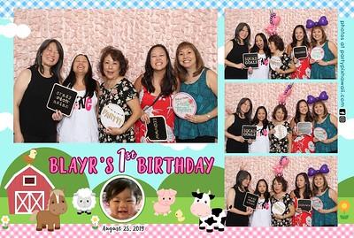 Blayr's 1st Birthday (Mini LED Open Air Photo Booth)