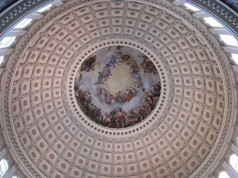 The domed ceiling of the Capitol