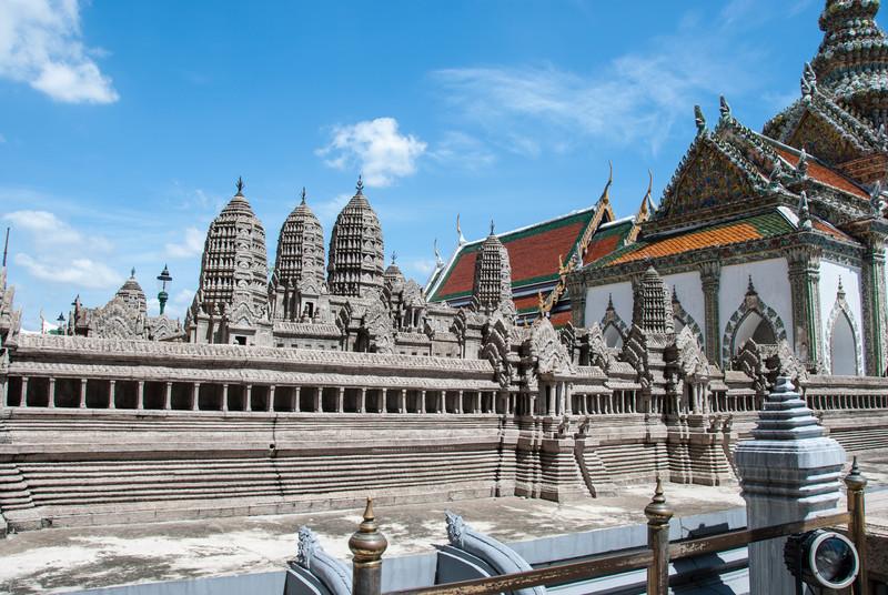 The model of Angkor Wat at the Grand Palace.