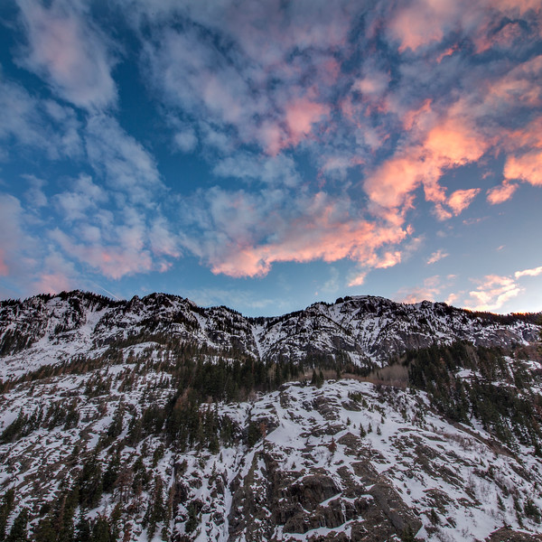 Sunset over Ridge in Ouray