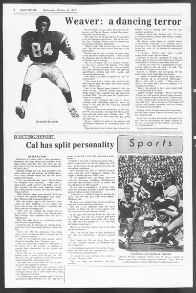 Daily Trojan, Vol. 62, No. 26, October 28, 1970