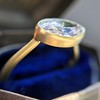1.17ct Antique Moval Cut Diamond Bezel Ring, GIA E SI1 13